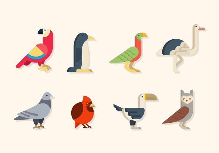 Flat Bird vektorer