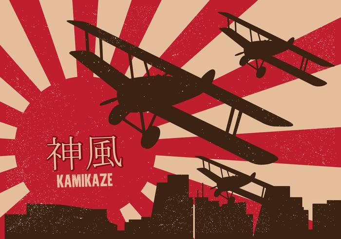 Poster Kamikaze vettore