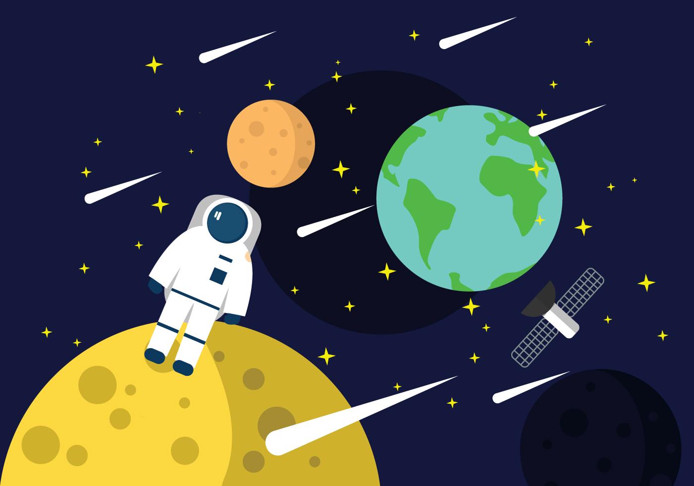 astronaut in space vector art - photo #23