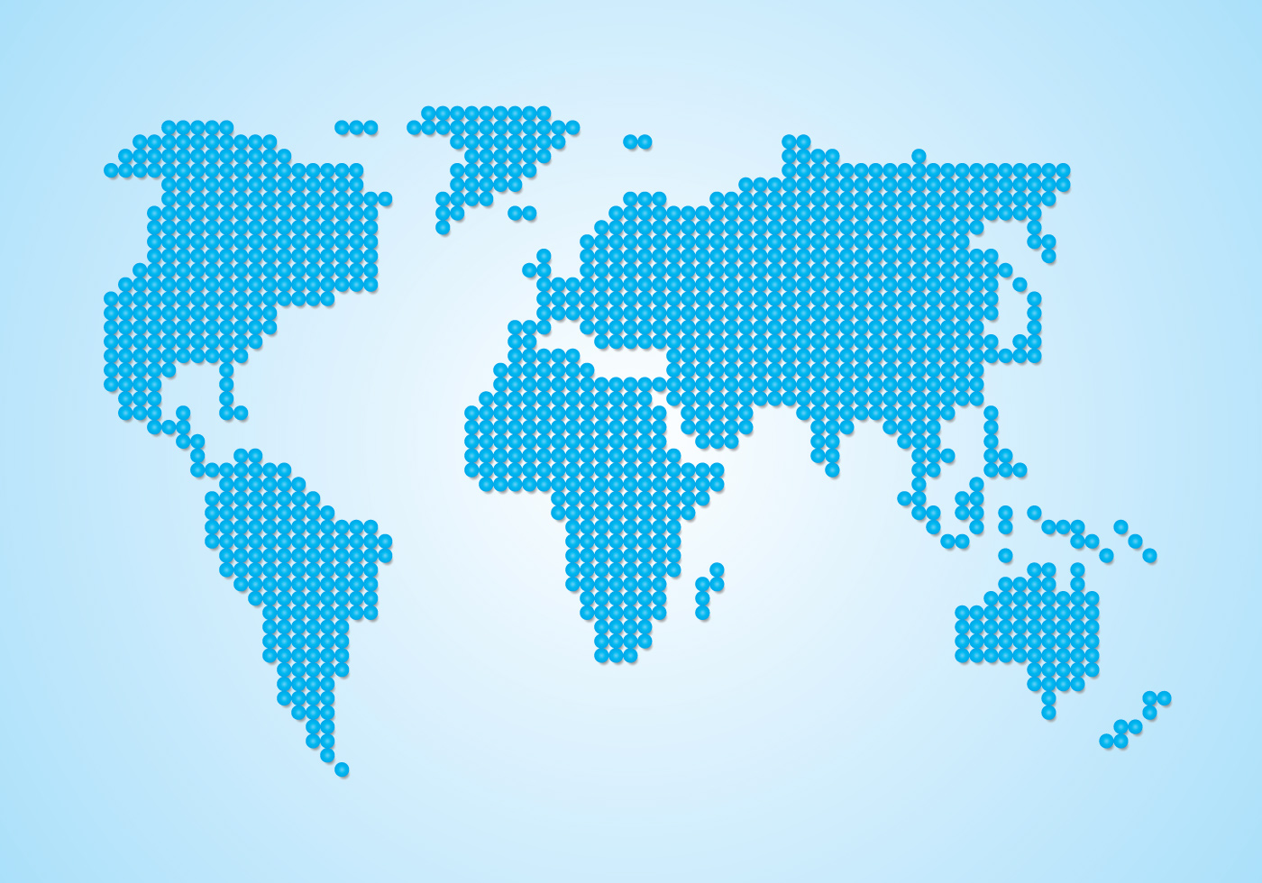 Dot World Map.Europe Map Dots Free Vector Art 11325 Free Downloads