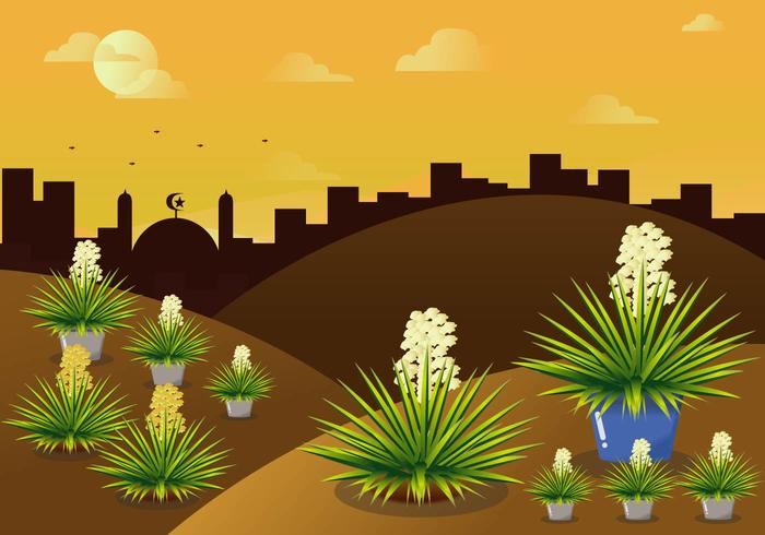 Exotic Landscape Vector