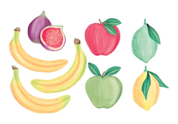 Collection main vecteur Fruits Drawn