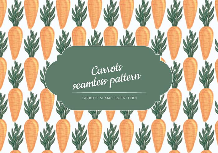 Vector Hand Drawn Carrots Pattern