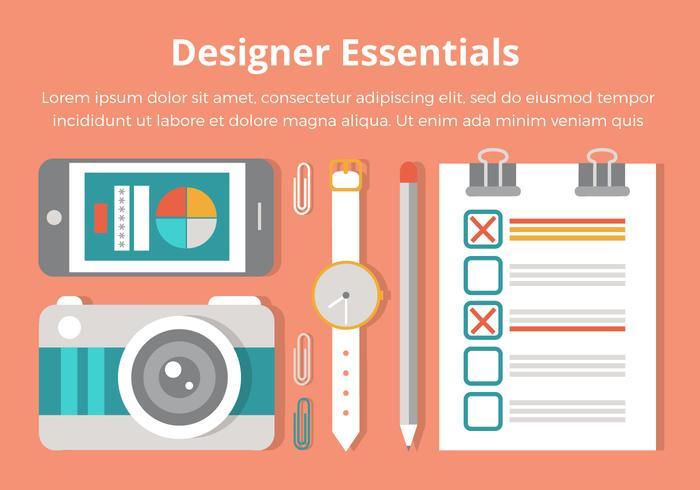Gratis Flat Design Vector Designer Essentials