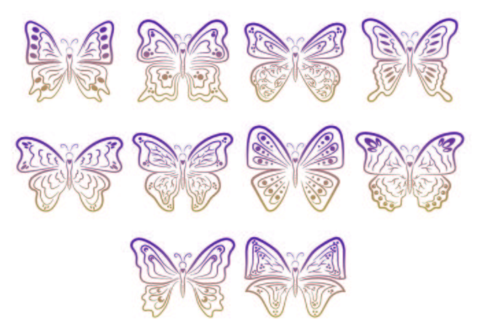 Set Of Mariposa Symbols