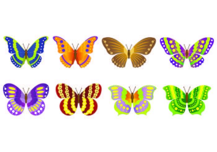 Set Of Mariposa Vectors