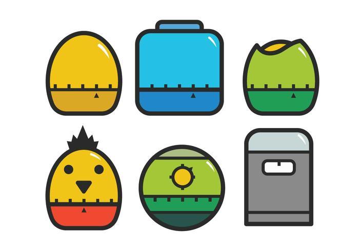 Egg timer icon set