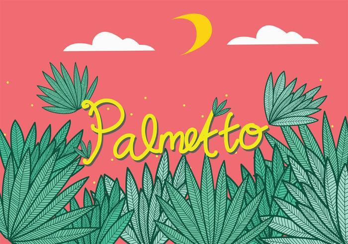 Palmetto Leaves Vector Art