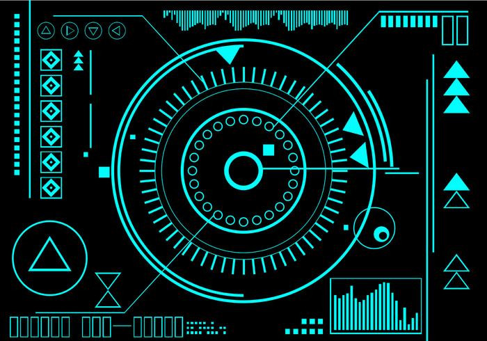 Hud Infographic Free Vector