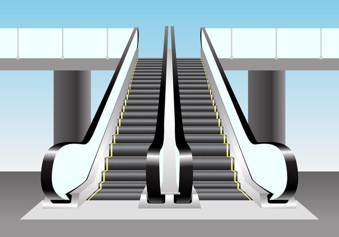 Escalator Vector Scene