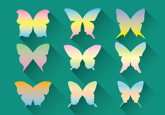 Pastel Butterfly Vector Pack