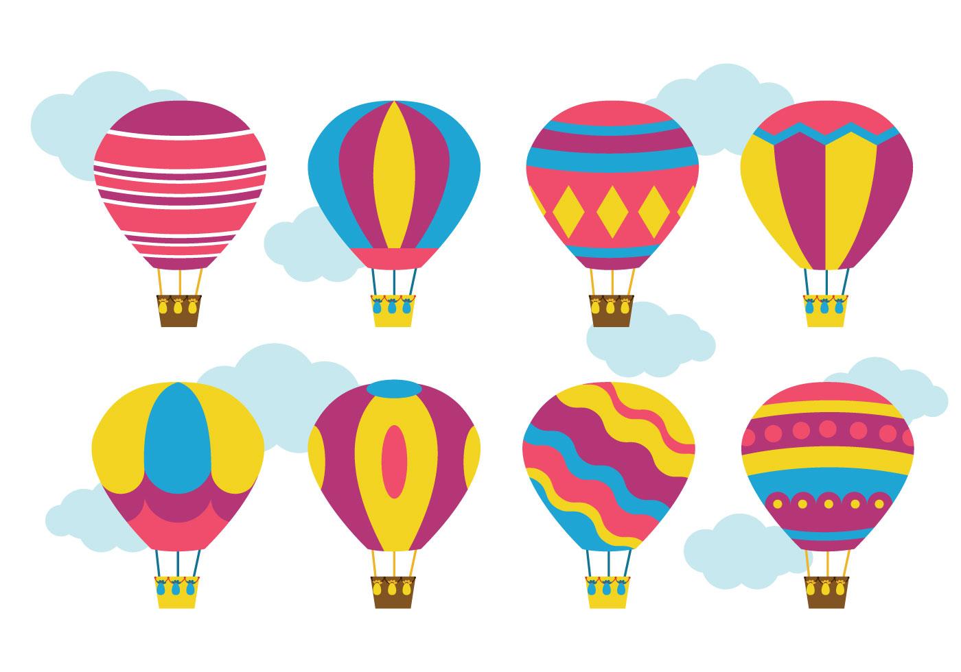 Bright Hot Air Balloon Vector Download Free Vector Art