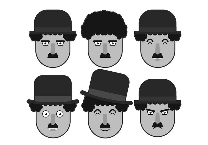 Download Vector Charlie Chaplin Face Vector Set Vectorpicker