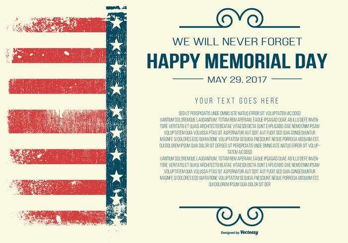 Memorial Day Template vector