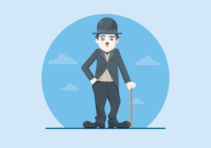 Ilustração de Charlie Chaplin