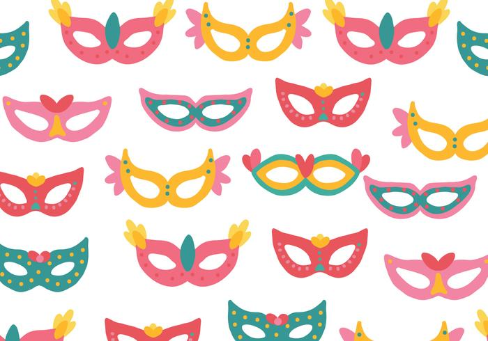 Colorful Masks Pattern