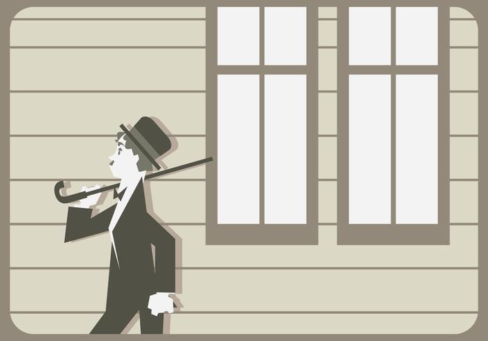 Charlie Chaplin Walking Vector