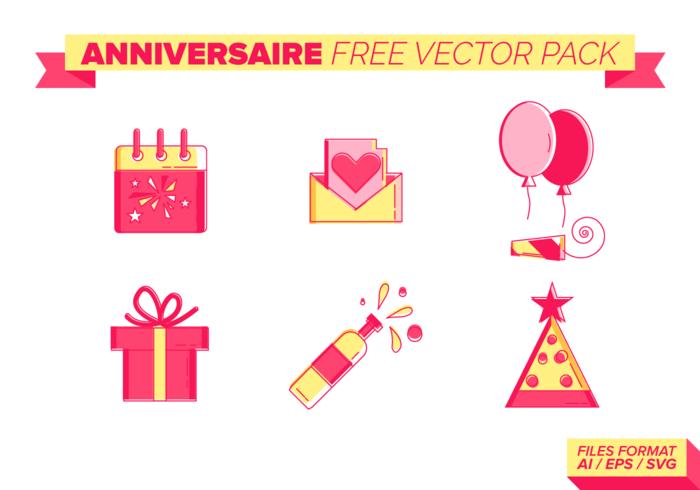 Anniversaire Vector Pack gratuito