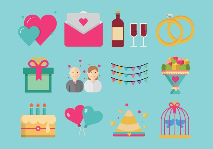 Party and Anniversary Icon Vectors