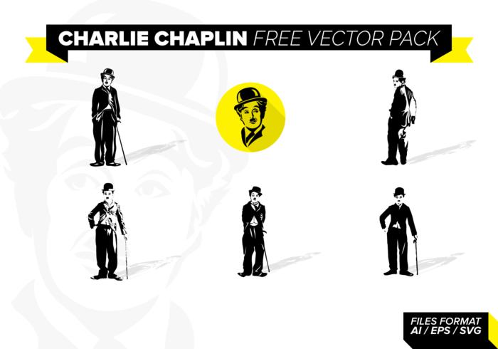 charles chaplin pacchetto vettoriali gratis