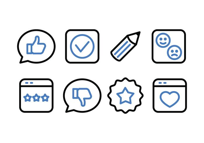 Testimonials and Feedback Icon Pack