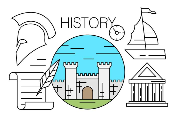 Free Linear Icons About History