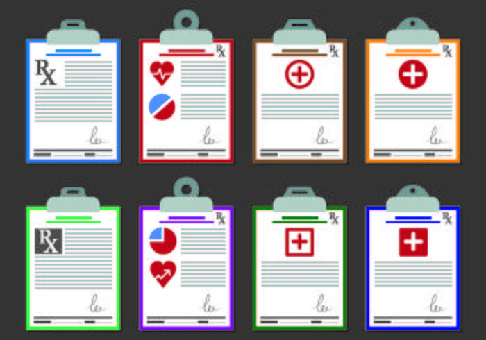 Vectors Of Prescription Pad