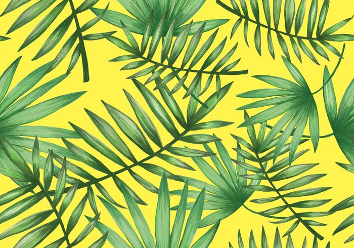 Tropical Palmetto Seamless Pattern Vector