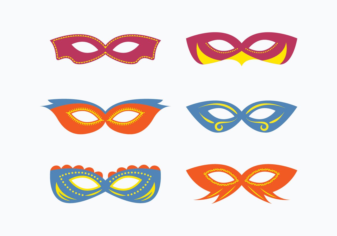 Masquerade Mask Vector Collection - Download Free Vectors ...  Masquerade Mask Vector