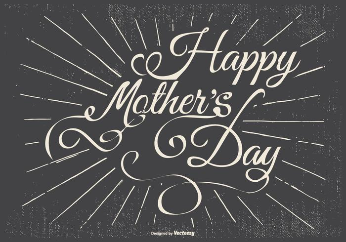 Typografische Happy Mother's Day Illustration