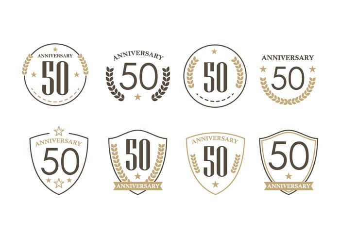 50th Years Anniversary Badges