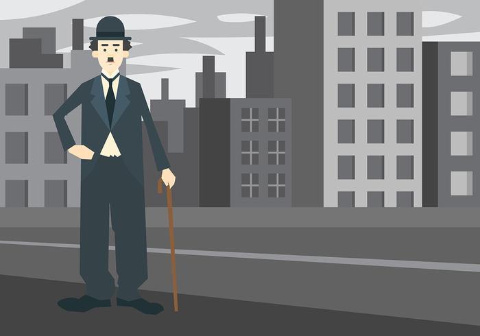 Charlie Chaplin Vector Background