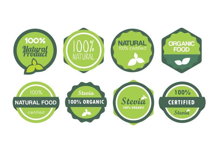 Insignias vectoriales de alimentos naturales