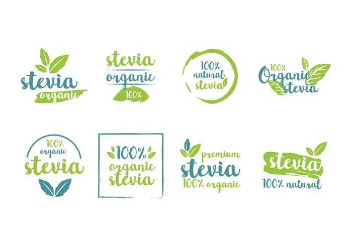 Stevia Product Tags Vector