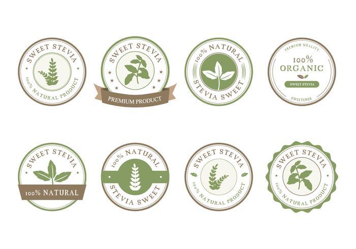 Stevia Etiqueta Vetor