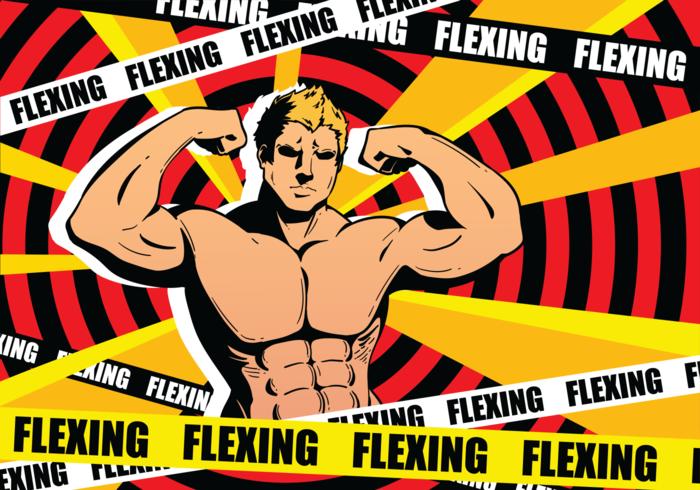 Flexing Vector Illustration