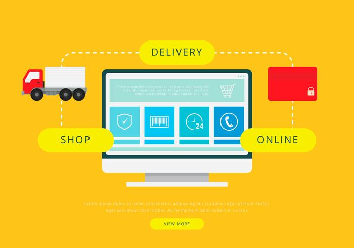 Moving Van or Truck. Transport or Delivery Illustration. vector
