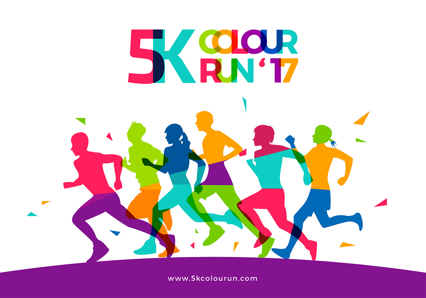 5k color run template free vector download free vector art stock
