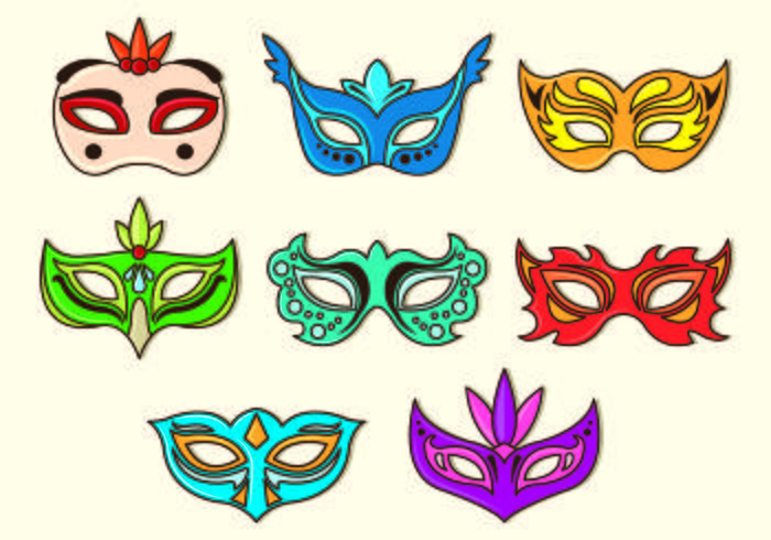 Set von Masquerade Ball Vektoren