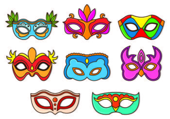 Set Of Masquerade Ball Vectors