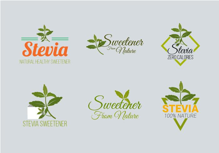 Stevia Label Logo Vector Collection