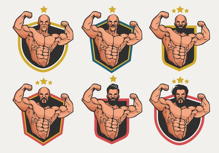 Flexing Logo Badge Vector Collectie