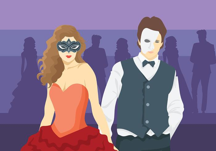 Masquerade Ball Vector Background