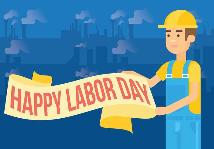 Fondo del vector del Día del Trabajo