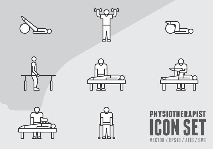 Physiotherapie Icons vektor