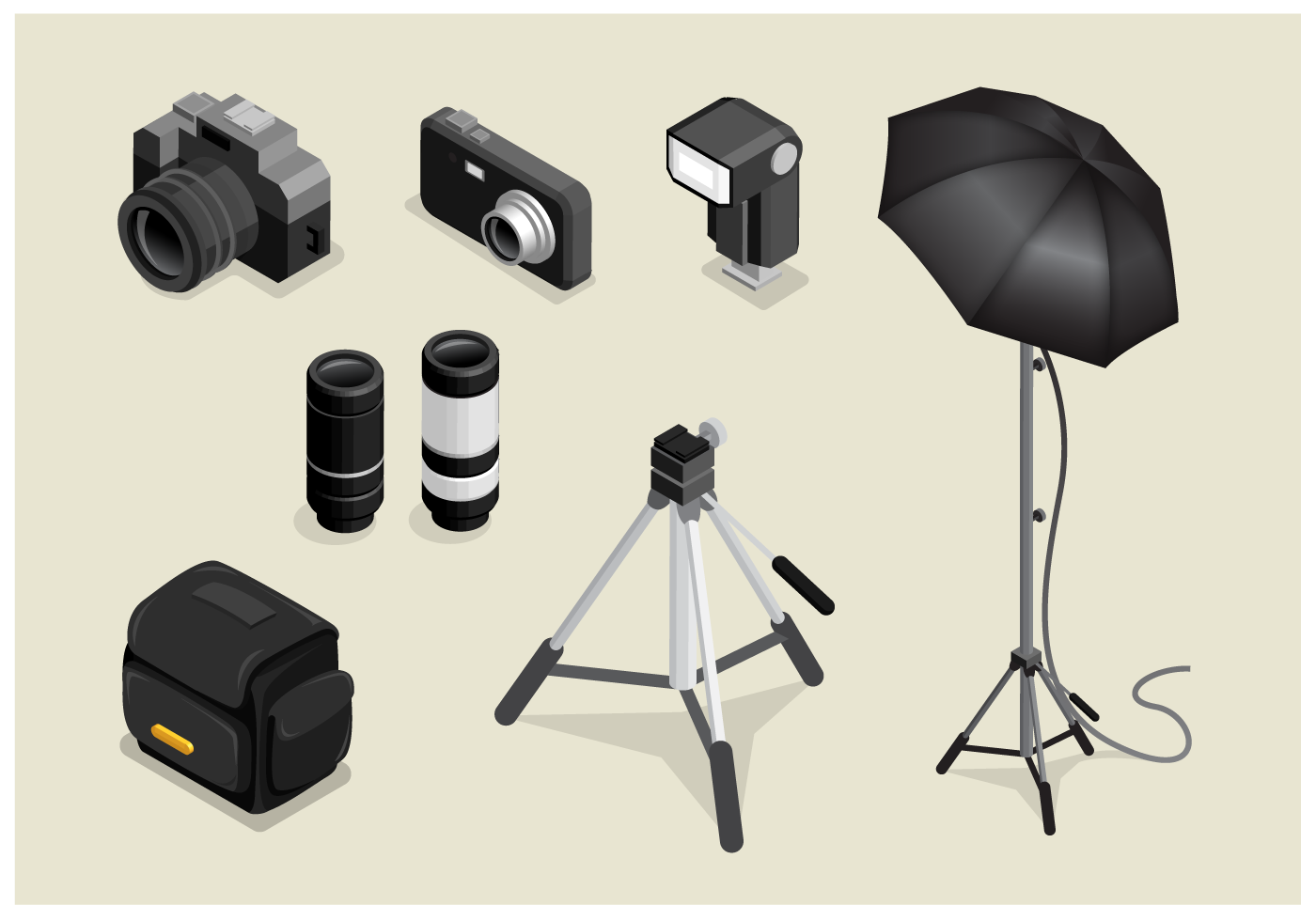 Free Isometric Photography Vector Download Free Vectors Clipart Graphics Vector Art