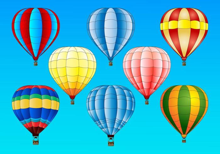 Hot Air Balloon vector set
