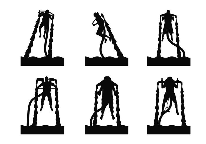 Water jet silhouette set