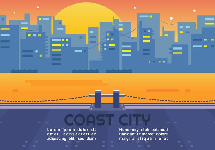 Coast City Vector