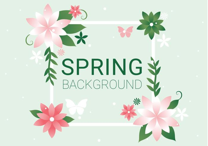 Free Spring Season Vector Background